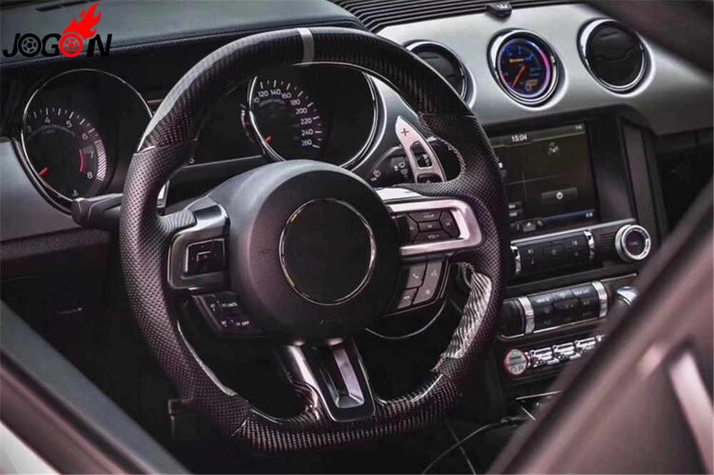 Углеродное волокно руль для Ford Mustang S550 EcoBoost 5,0 GT, 2,3 GT Премиум Bullitt купе GT350 V6 V8