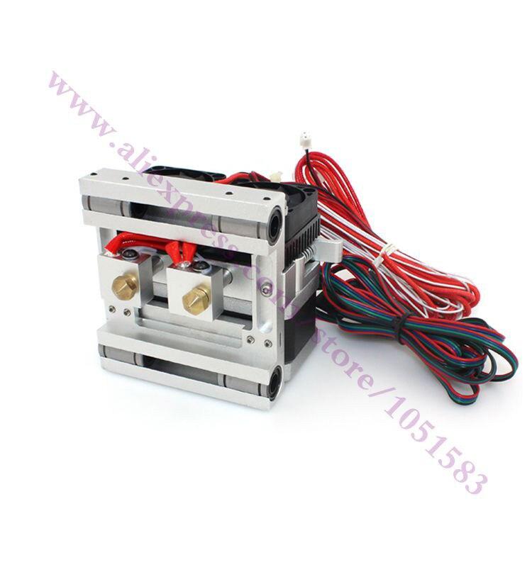 Обновления MK10 экструдер Dual head полный набор для Makerbot репликатор 2/2X, Prusa i3 3D-принтеры