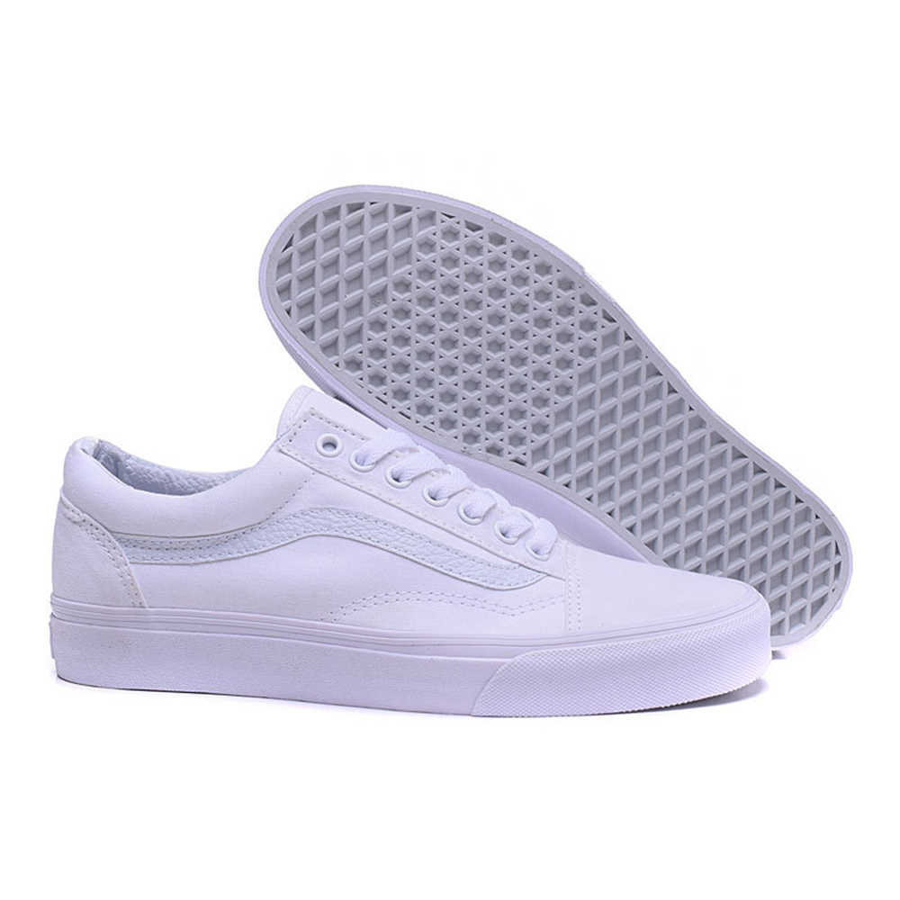 1ae78b9b31 ... White Vans Old Skool Sneakers Low-top Unisex Men Women Sports  Skateboarding Shoes Breathable Classic