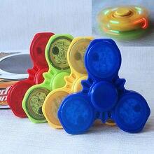 Helen115 Lovely LED Hand Spinner Tri Fidget Finger Fingertip Gyro Steel Ball Desk Toy EDC