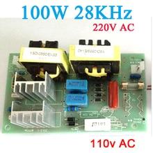 AC 220v 110W 100W 28KHz generator ultradźwiękowy czyszczenie sterownik mocy płyta częstotliwość 281 KHz do czyszczenia medyczne piękno