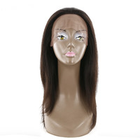KEMY Brazilian Straight Hair Lace Front Wig Free Part Natural Color Remy Human Hair Wigs For Black Women Bleached Knots 18inches