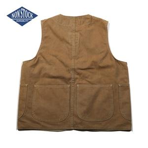 Image 2 - NON STOCK Duck Canvas Game Pocket Vest Vintage Outdoor Mens Hunting Jacket
