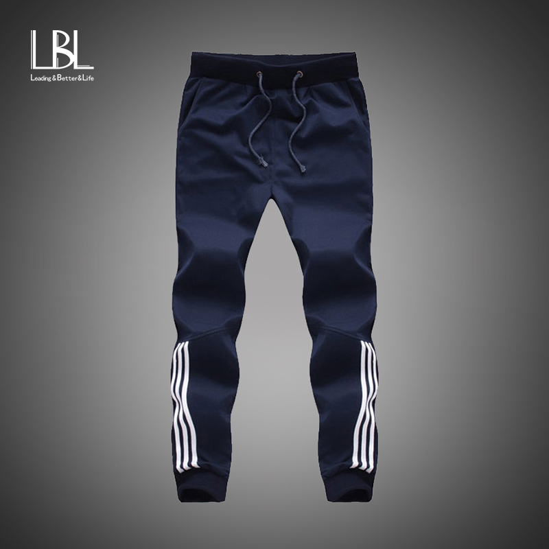 2018 New Fashion Tracksuit Bottoms Mens Casual Pants Cotton Sweatpants Mens Joggers Striped Pants Gyms Clothing Plus Size 5XL(China)