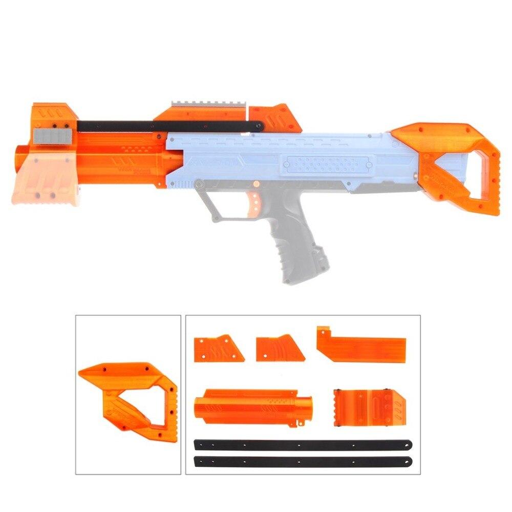TRAVAILLEUR Léger Haute Résistance En Plastique Mod F10555 Orange Pompe kit Grip Stock Ensemble pour Nerf Rival Apollo XV700 Modifier DIY jouets