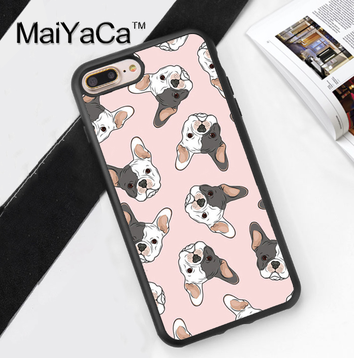 MaiYaCa French Bulldog Puppy Dog Cases Cover For iPhone 7 Plus Soft TPU Rubber Case for iPhone 7plus phone bag coque capa