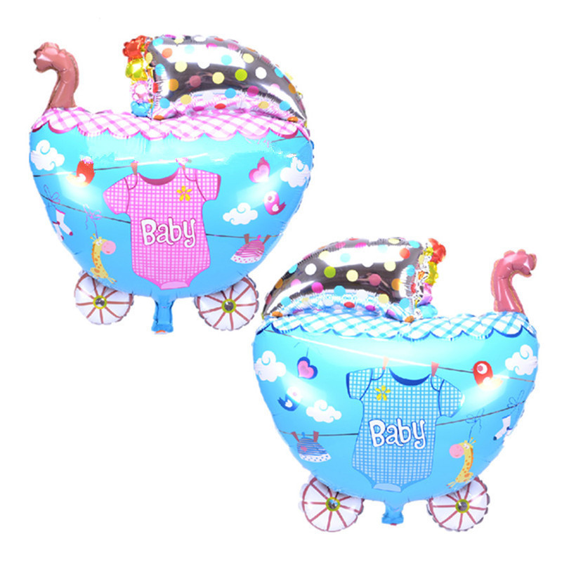 Cartoon Hat Baby Shoes Foil Balloons Baby Shower Decoration Baby Boy Girl Birthday Party Decorations Kids Cartoon Hat