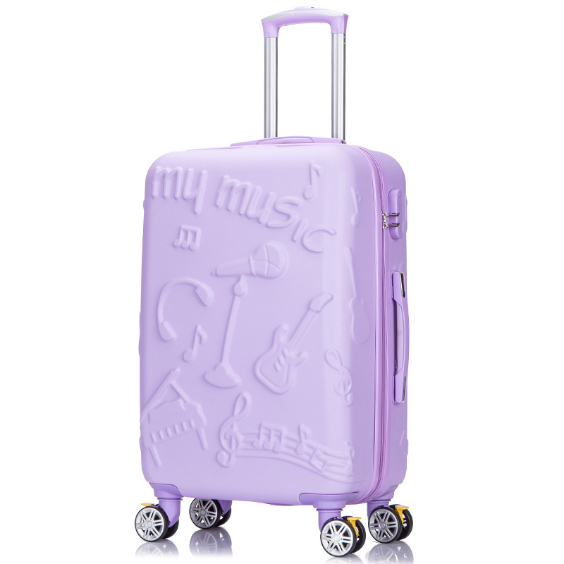 perfect solid color 20/24/28 Inch size Classic fashion handbag and Rolling Luggage Spinner brand Travel Boarding Suitcase - 2