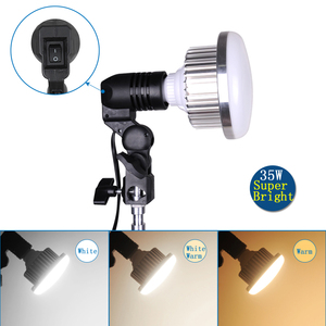 Image 4 - Adjustable Desktop Phone Shooting Bracket Stand+ Boom Arm+Super Bright 35W LED Light Photo Studio Kits For Desktop Photo/Video
