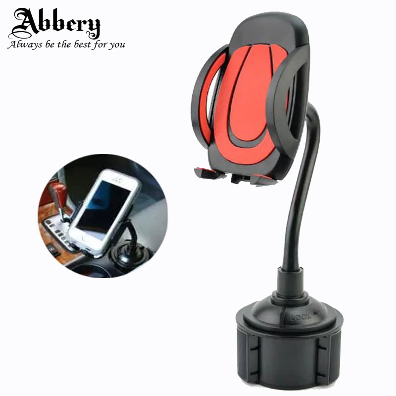 Abbery Universal 360 Rotating Auto water Cup holder bracket Mount Holder Stand For Cellphone iphone 5S 6S 7plus S6 phone holder