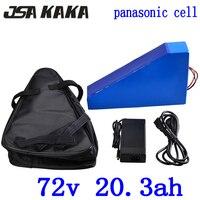 72 V 20AH 72 72 V 20AH bateria ebike bateria de lítio V 1500 W 2000 W 3000 W bicicleta elétrica uso da bateria panasonic carregador de celular + 84 V 2A