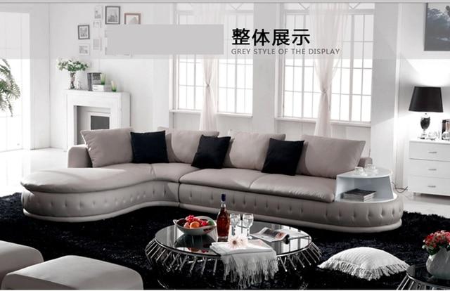 White Leather Living Room Sofa  2