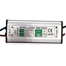 10pcs LED Driver 600mA 20W AC85V-265V to DC30-36V Switch Adapter Transformer Power Supply IP67 For Floodlight spotlight lamp