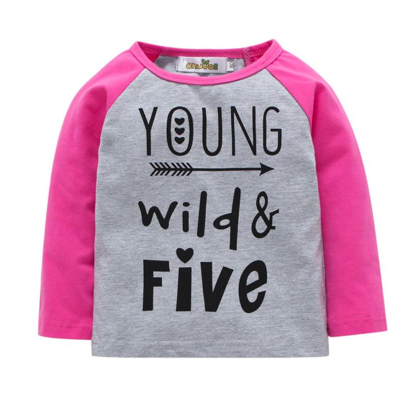9M-3T toddler kids spring autumn clothes girls long sleeve Letter Print Tops T-Shirt childrens clothing casual tshirt for girl