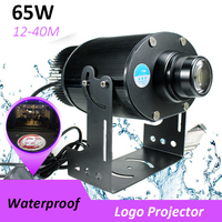 65W LED HD Projection Advertising DIY Logo Custom Image Projector Lamp Shop Mall Restaurant Welcome Laser Sense Timing Light