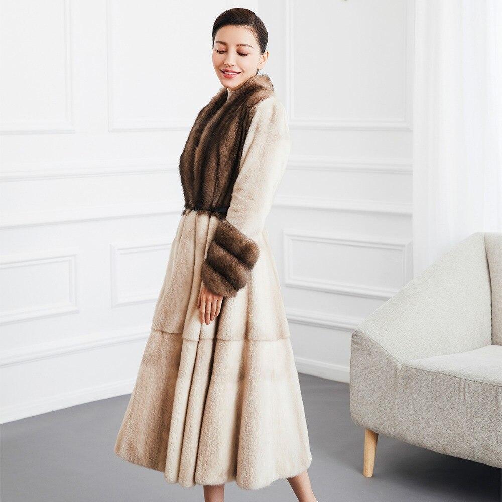 Zibeline Beige Naturel Fourrure 80110b Vêtements Russie Manteaux Femmes De Npi Femme Vrais Qualité Manteau Hiver Luxe Vison Haut Martre Gamme wqX8HpU