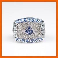 Masonic Blue Logo Championship Ring Beautiful Ring With Paper Box