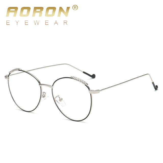 Blue Small Frame Eyeglasses Glasses Us8 Metal aoron Clear Ray 03 Women Retro Anti Round Rose In Goggles Lunette Computer 40Off Brand fby7g6
