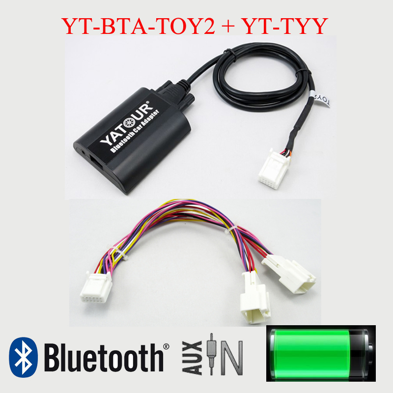 Yatour BTA Bluetooth adapter car radio MP3 player for Toyota Lexus 6+6pin radios yatour car digital music cd changer aux mp3 sd usb adapter 17pin connector for bmw motorrad k1200lt r1200lt 1997 2004 radios