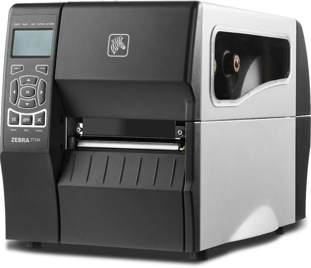 Original Nova Marca ZEBRA ZT230 Desktop Transferência Térmica e Térmica Direta Modos de Impressora de código de Barras 203 dpi Impressora de código de Barras