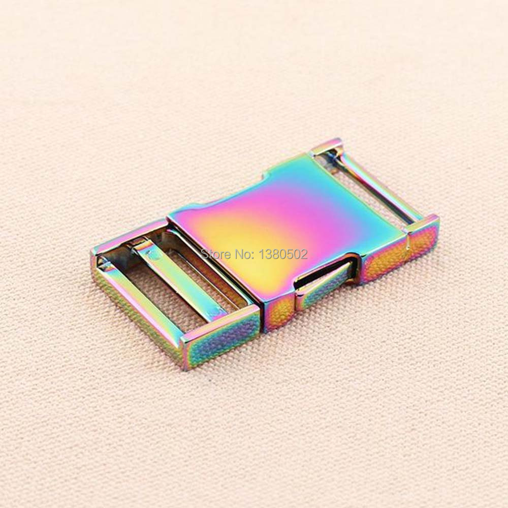 Detail Feedback Questions about Top Quality Rainbow Color Fashion Metal Belt  Buckle Strap Quick Side Release Buckle For Dog Collar Webbing Garment ... 2bc860077c42