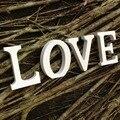 Letras de madeira Para Qualquer Nome Inglês Palavra Número Mostrando Branco Polido Pintado Letras & Branco Para Decoração Do Casamento & Gift