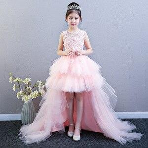 Image 1 - Vestido de baile de graduación de flores para niña, vestidos de boda para niños, vestido de fiesta de cumpleaños de princesa, vestido de primera comunión