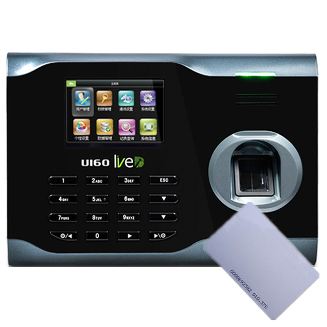 ZK U160 WiFi RFID Punch Card and Fingerprint Time Attendance Fingerprint Time Clock For employer attendance System high speed zk fingerprint time attendance terminal iclock360 125khz em id card punch card and fingerprint time clock system