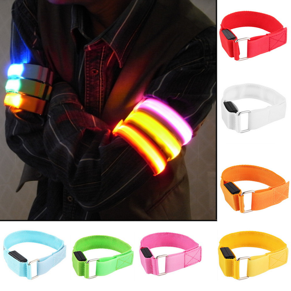 LED Arm Bands Lighting Armbands Leg Safety Bands for Cycling Skating Party Shooting Night Skating Wristband 7 Colors Wholesale недорго, оригинальная цена