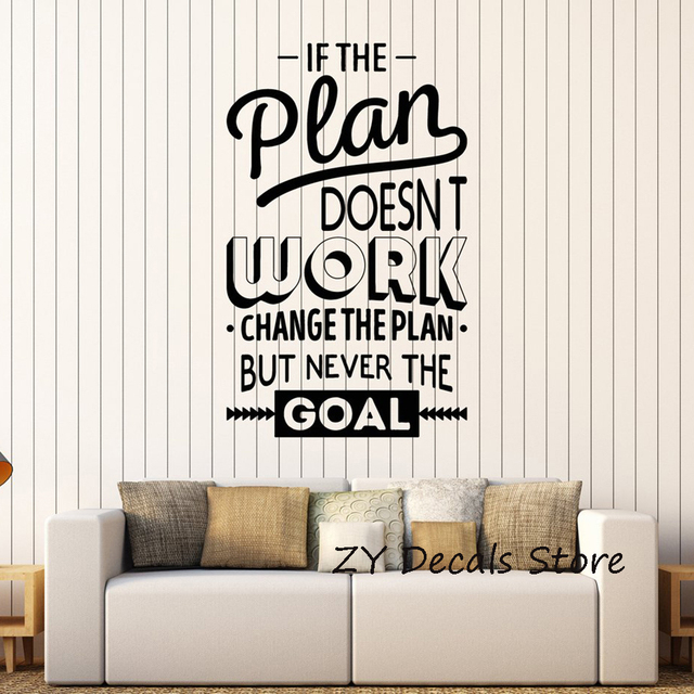inspire office decoration motivation wall stickers mural vinyl decal