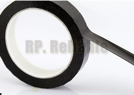 1x 15mm*66M*0.06mm Black Electrical Insulation Mylar Tape For Transformer Coil, High Temperature Resistant, Voltage Withstand