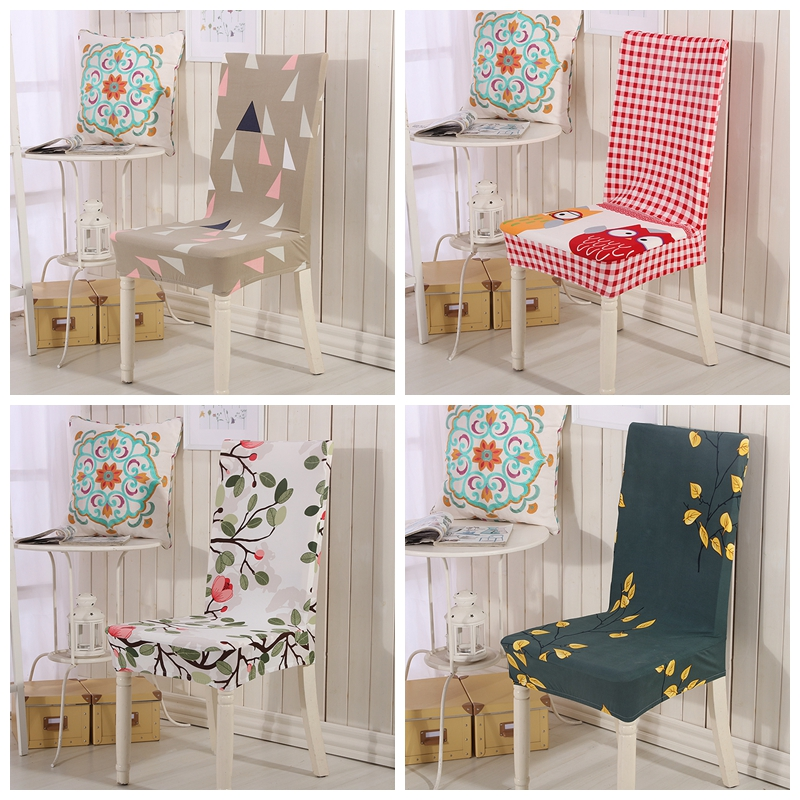 Incredible Triangle Pattern Printing Stretch Chair Covers For Wedding Machost Co Dining Chair Design Ideas Machostcouk