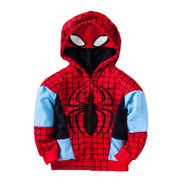 f6028c021c97 spiderman clothing for 1 5 yrs kids cotton coat for boys hoodies and ...