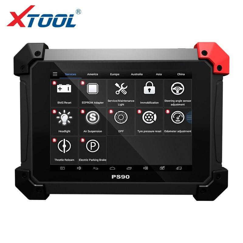 XTOOL PS90 automotriz OBD2 herramienta de diagnóstico del coche con clave programador/cuentakilómetros Correctio/EPS soporte Multi modelos de coches wifi/BT