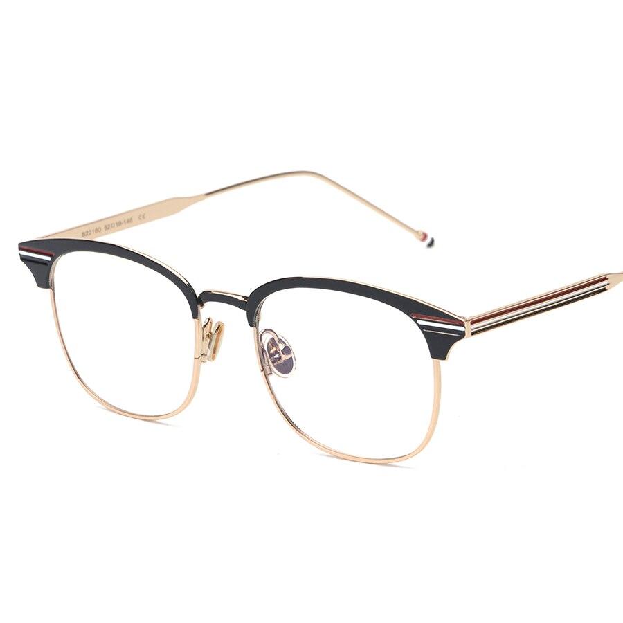 luxury brand women glasses frame metal square gold frame glasses vintage eyeglass men computer clear lens