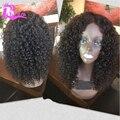 8А Вьющиеся Полный Шнурок Человеческих Волос Парики Бразильского Виргинские Волос Вьющиеся Парик Фронта шнурка Glueless Фронта Шнурка Человеческих Волос Парик Для Черных женщины