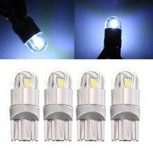 Mayitr 4pcs T10 W5W 168 3030 2LED 2 SMD 6W 12V DC Car Interior Width Reading Light Lamp White High Efficient lighting