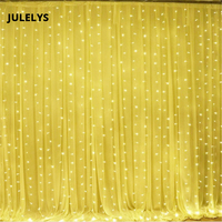JULELYS 4M x 5M 640 Bulbs LED Wedding Curtain Lights Garland Christmas Decorations For Holiday Party New Year Backyard Garden
