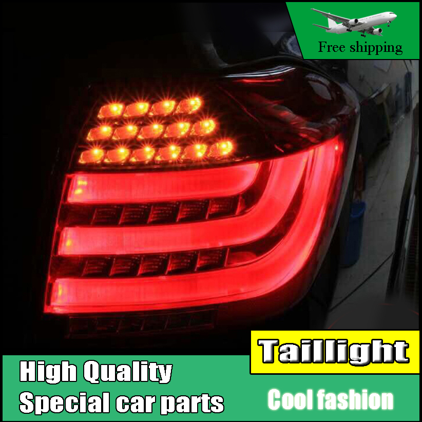 Car Styling Tail Lights For Toyota Highlander 2012-2014 Taillights LED Tail Light Rear Lamp DRL+Brake+Signal Auto Accessories