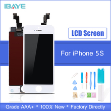 AAA NO dead pixel LCD For iPhone 5s lcd for iphone5s Screen Touch Digitizer Assembly free shipping Replacement part Tools цена 2017