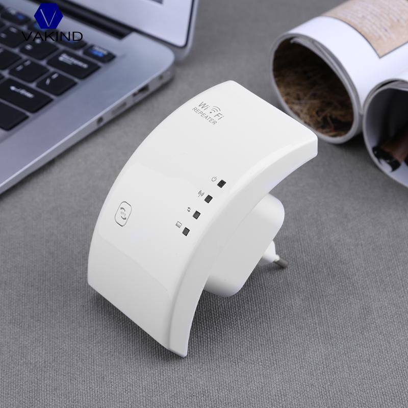 VAKIND 300Mbps WiFi Signal Long Range Booster Extender Wireless AP Repeater , Mini Wireless WiFi Repeater US EU Plug