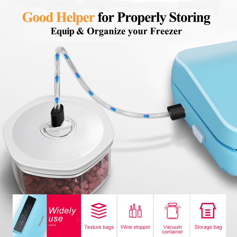 Biolomix Vacuum Sealer Automatic Food Packing Machine with 10pcs bags Dry & Moist Vacuum Air Sealing System For Food Preservate-in Vacuum Food Sealers from Home Appliances    2