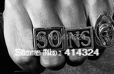 fashion Sons of anarchy Jax teller ring 2 colorsin Rings from
