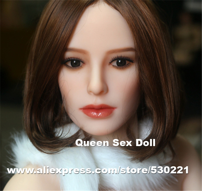 цена на 2017 NEW Top quality real silicone doll head for adult sex dolls, oral real sex toy doll, sexy products