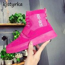Kjstyrka 2018 mujer botas tornozelo mulheres bota alta top feminino moda inverno ankle boots de pelúcia manter quente senhoras bota feminina