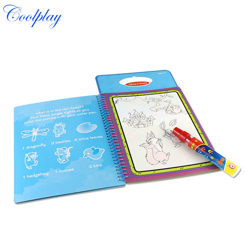 Water Drawing Book 1 Magic Pen Reusable Coloring Painting Learning Toys For Kids Early Educational In From Hobbies