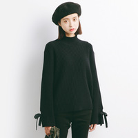 2017 Autumn New Sweater Korean Elasticity Was Thin Round Collar Slim Shirt Female M51
