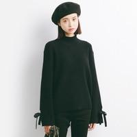 2017 Autumn New Sweater Korean Elasticity Was Thin Round Collar Slim Shirt Female M51
