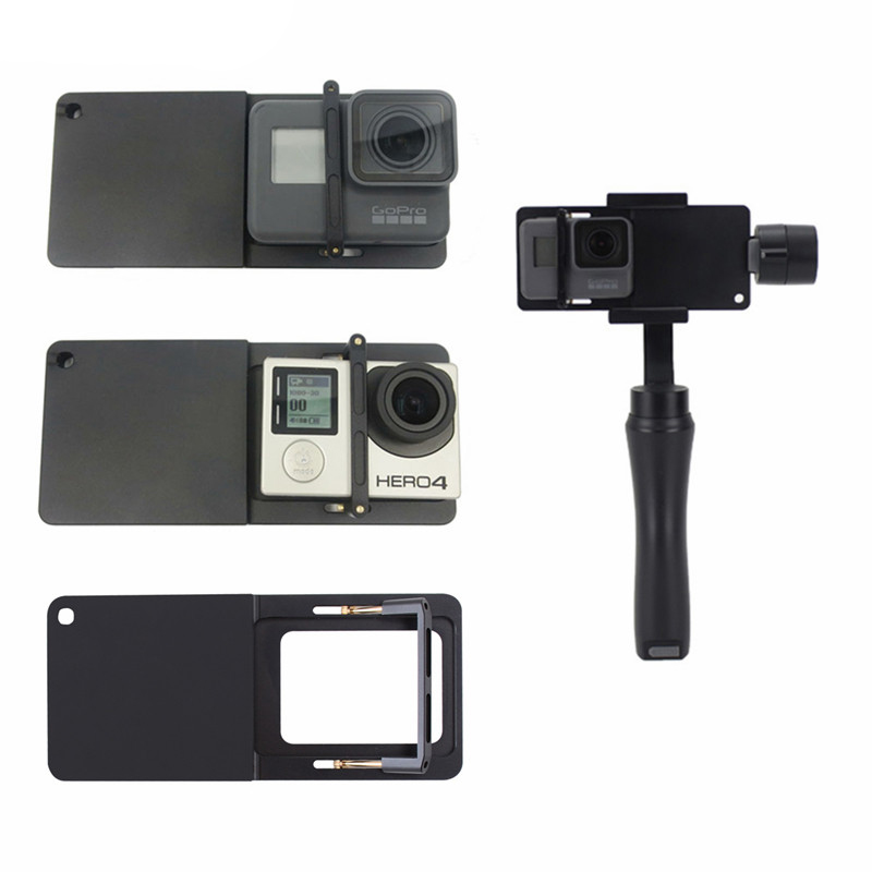 Mount Adapter for gopro hero 3/4/5 Clip for Zhiyun Smooth Q 4 DJI Osmo mobile 2 Feiyutech SPG Handheld Phone Gimbal