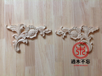 Don't forget the wooden Dongyang wood carving wood rose floral applique European gun angle door decals